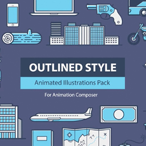 Outlined Style Pack for Animation Composer