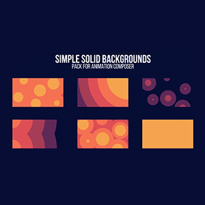 Simple Solid Backgrounds Pack for Animation Composer