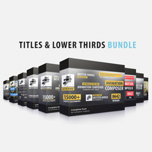 Titles & Lower Thirds Bundle for Animation Composer